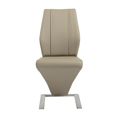 Barta Side Chair (Set of 2) Upholstery: Taupe