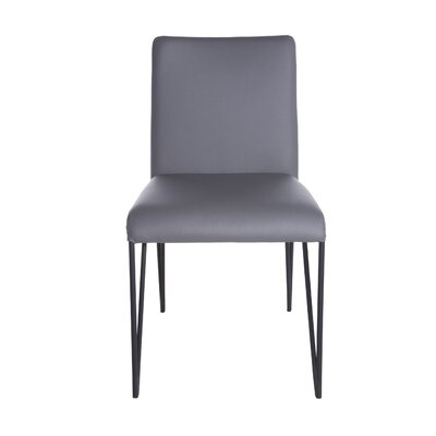 Arnette Side Chair (Set of 2) Upholstery: Dark Gray