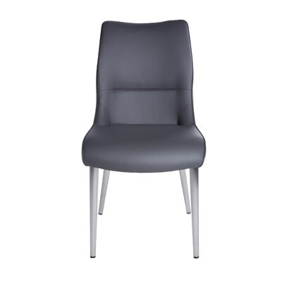 Ansell Side Chair (Set of 2) Upholstery: Gray