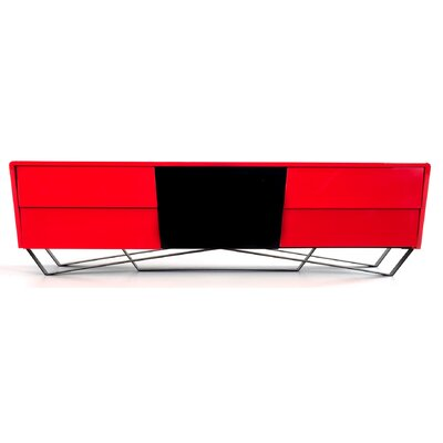Coffelt Modern 87 TV Stand Color: Red