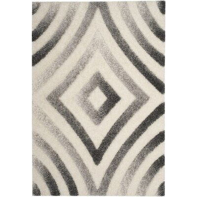 Adamski Cream/Gray Area Rug Rug Size: 4 x 6