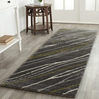 Kenzo Dark Gray Area Rug Rug Size: Rectangle 27 x 5