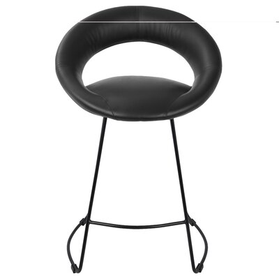 Prairie 23 Bar Stool Upholstery: Black