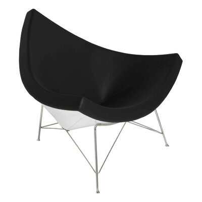 Kinsley Side Chair Upholstery: White Leather, Finish: Matte White