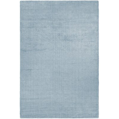 Alyson Hand-Loomed Ice Blue Area Rug Rug Size: Rectangle 53 x 76