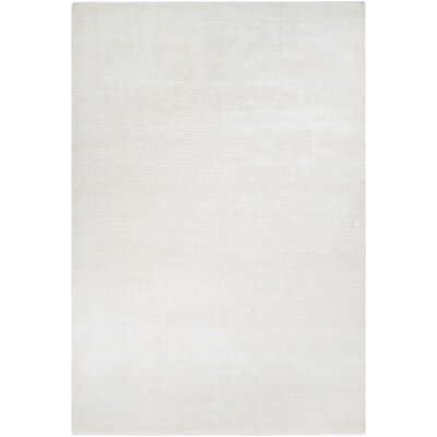 Alyson Hand-Loomed Light Gray Area Rug Rug Size: 35 x 55