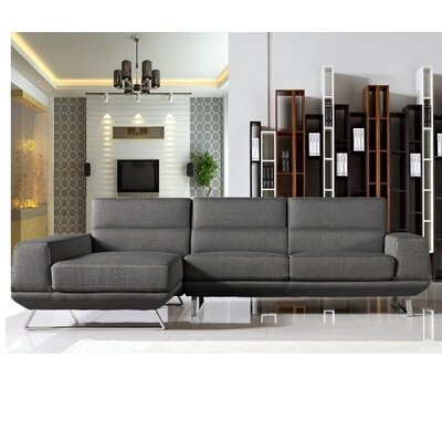 Gavrilin Sectional Upholstery: Gray, Orientation: Left Hand Facing