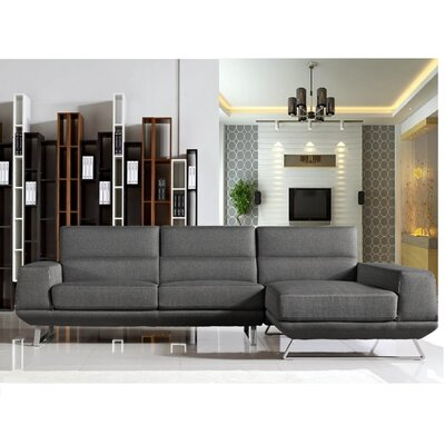 Gavrilin Sectional Upholstery: Gray, Orientation: Right Hand Facing