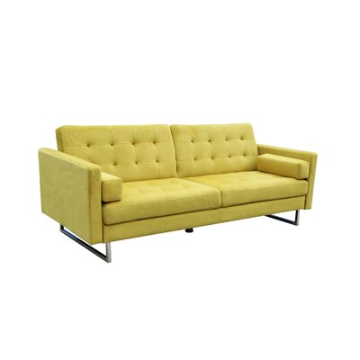 Kylee Convertible Sofa Upholstery: Yellow