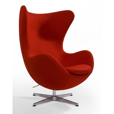 Alexia Arm Chair Upholstery: Wool Red