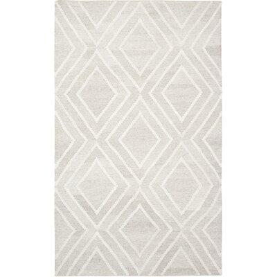 Mata Kilim Ivory/Ivory Area Rug Rug Size: 5 x 8