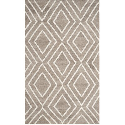 Mata Kilim Ivory/Gray Area Rug Rug Size: Rectangle 5 x 8