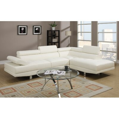 Margaret Sectional Upholstery: Ivory White