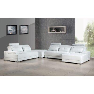 Cordlandt Modular Sectional Upholstery: White