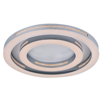 Lethe 1-Light LED Flush Mount Size: 3