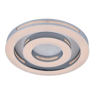Lethe 1-Light LED Flush Mount Size: 3 H x 17.75 W x 17.75 D