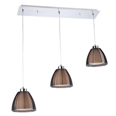Efimov Kitchen Island Pendant Finish: Black