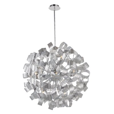 Juliet 12-Light Geometric Pendant Size: 34 H x 34  W x 34 D