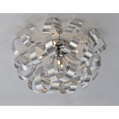 Juliet 5-Light Flush Mount Finish: Brushed Nickel
