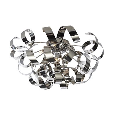 Juliet 5-Light Flush Mount Finish: Chrome