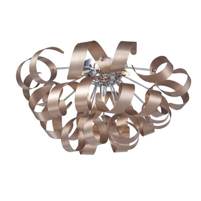 Juliet 5-Light Flush Mount Finish: Brushed Copper/Chrome