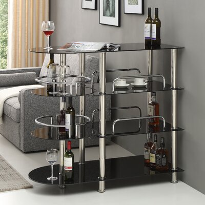 Megan Mini Bar with Wine Storage