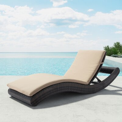 Meeki Chaise Lounge with Cushion
