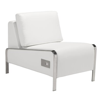 Leeanne Slipper Chair Upholstery: White