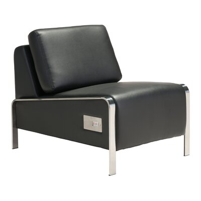 Leeanne Slipper Chair Upholstery: Black