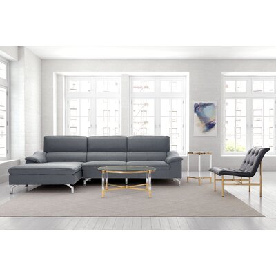Wyman Sectional Orientation: Left Hand Facing, Upholstery: Gray