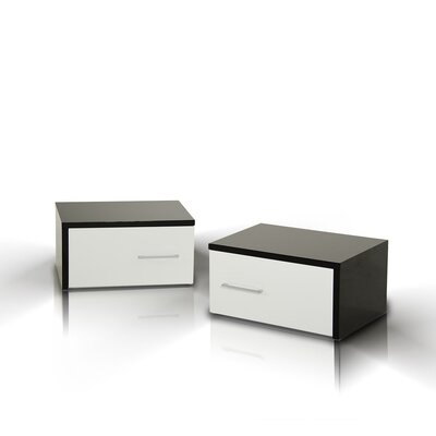 Clower Modern 1 Drawer Nightstand Orientation: Left