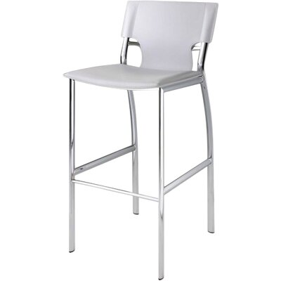 Loren 25.2 Bar Stool (Set of 2) Upholstery: White