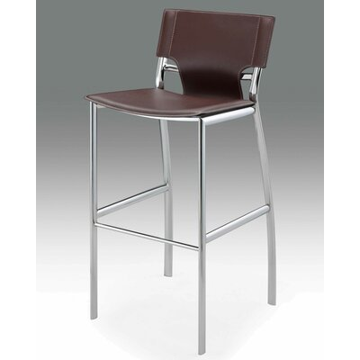 Loren 25.2 inch Bar Stool (Set of 2) Upholstery: Brown