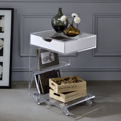 Whitney Acrylic Capri 2-Tier End Table