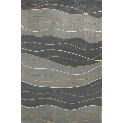 Saniyah Dark Blue/Light Blue Seaside Waves Area Rug Rug Size: 53 x 83