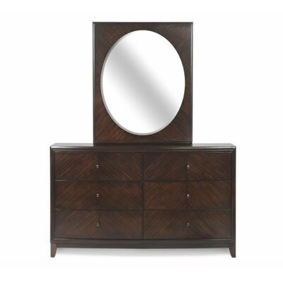 Maleah Square 6 Drawer Dresser with Mirror