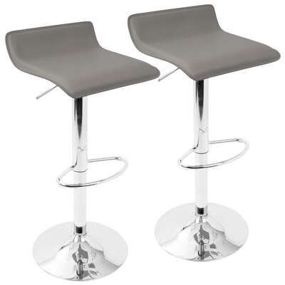 Dan Adjustable Height Swivel Bar Stool Color: Gray