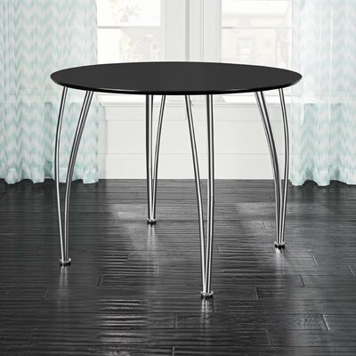 Clovis Round Dining Table Top Finish: Black