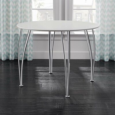 Bentwood Round Dining Table Top Finish: White