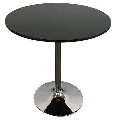Mikaela Dining Table Top Finish: Black, Size: 30 H x 34 W x 34D