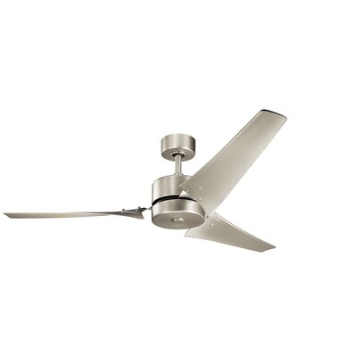 60 Dakota 3 Blade Ceiling Fan Finish: Brushed Nickel