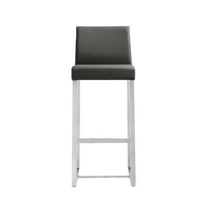 Orville 30 Bar Stool Upholstery: Grey