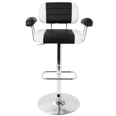 Micheal Adjustable Height Swivel Bar Stool