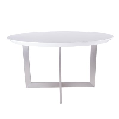 Atlas Round Dining Table Top Finish: Matte White Lacquer
