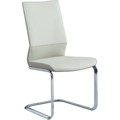Keyshawn Contemporary Side Chair (Set of 2) Finish: Cream