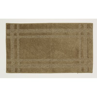 Steelton Khaki Bath Rug Rug Size: Rectangle 5 x 8