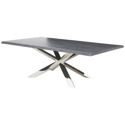 Boler Dining Table Top Finish: Gray Oxidised
