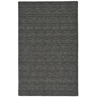 Casey Hand-Loomed Charcoal Area Rug Rug Size: 2 x 3