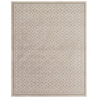 Cassandra Pewter/Light Gray Area Rug Rug Size: 98 x 127