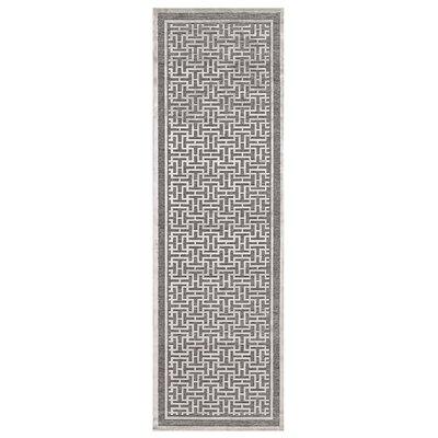 Cassandra Pewter/Light Gray Area Rug Rug Size: Runner 26 x 910